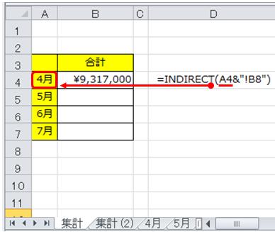 エクセル_INDIRECT_2